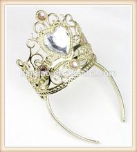promotional wholesale plastic king kids rhinestone tiara crowns 2015
