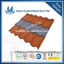 0.4mm Ce Certificate stone coated steel roofing/ Sand Coated tile Roofing/colorful sand coated roof steel
