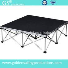 1m*1m black carpet portable stage aluminum legs