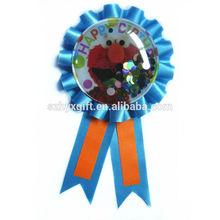 Promotional Gift Printable Handmade Satin Award Ribbon Rosette Badge For Halloween