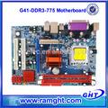 Compañías fiables, memoria de dos canales ddr 1333 1066 lga775 g41 placas madre de escritorio