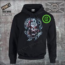 100% cotton hoodies skull hoody glow in the dark dragon coat pullover hoody