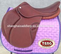 Spanish leather horse saddle,jumping saddle