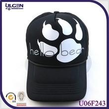 Women and men wholesale black bear sport cap for unisex adult