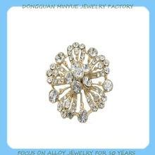 Crystal rhinestone brooch pin for wedding bouquet