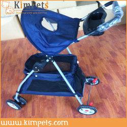 New deluxe folding 4 wheel pet dog cat stroller