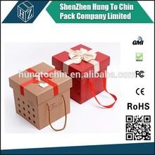2015 Fancy gift popular new arrival OEM design cardboard box for christmas