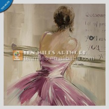 2014 the newest original pure hand-painted ballet beauty woman simple retro fashion home decoration living room painting