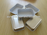 aviation smooth wall aluminum foil container and lid