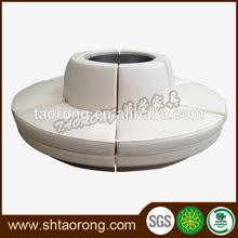 Round bench sofa for restaurent