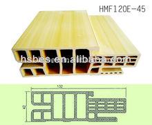 High sealing wpc door jamb /door frame with pvc film wrapped