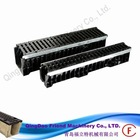 FM-G-HDPE surface linear drainage channel grating heavy type canal grating with channel cover custom size grill grates cast iron