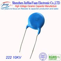 High voltage disc ceramic capacitor 10KV222K Manufacture