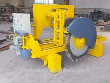 Automatic concrete floor slab cutting machine with concrete saw