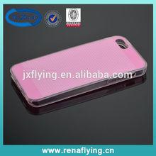 Mobile phone accessories plastic transparent slim phone case for i5