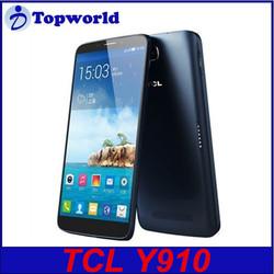 TCL original Y910 smartphone 6 inch MTK6589T Quad Core 13.0MP camera Shenzhen China good mobile