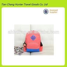 2014 hot selling high quality kids school bag cut canvas school bag