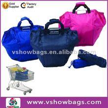 foldable reusable shopping car bag/ supermarket shopping cart bag