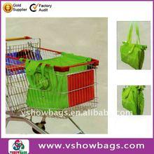 Fashion Custom Polyester Supermarket cart bag/Foldable shopping cart bag