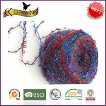 Boucle like fancy loop yarn for knitting