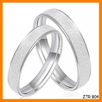 Free Shipping Couples Sanded Creative Ring Wholesale ZTR B04