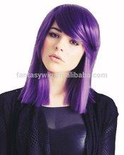 Wholesale Cheap Gundam Tieria Erde Violet Purple Straight Silky Halloween Holiday Party Wig