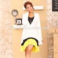 Venta al por mayor de moda OEM de algodón de primavera negro vestido de noche embarazada AK001