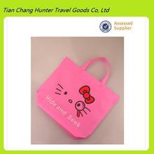 hot sales usable promotional recycle vivid cartoon printing non woven shopping bag