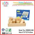 montessori de madera de entrenamiento sensorial de la gravedad de juguetes educativos del producto