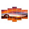 Sunset Skyline Landscape Paintings Wall Decor ART Framed Canvas Prints