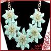 Handmade Jewelry Beautiful Large Acrylic Flower Necklace