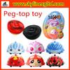 Plastic Children favourite cartoon Q spinning top toy