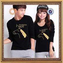 hot sale cartoon printed cute couple t-shirt