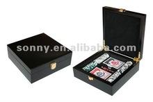 Black poker chip case