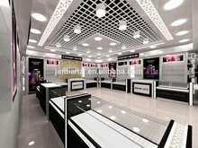 Elegant cosmetic shop decoration for makeup display furnture