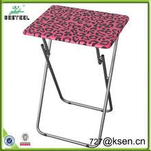 2014 Printing Cheap Metal Small Portable Folding Table