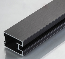 aluminium sliding wardrobe doors/black anodized price
