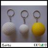 pu foam golf stress ball keychain