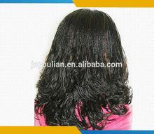 Fashion style Indian hair full lace braid hair wig &box braid lace wigs accept sample order