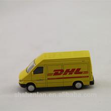 1:87 yellow DHL Toy promotional van models