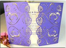 Elegant laser cutting wedding invitation card