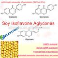 el estrógeno natural activo de las isoflavonas de soja agliconas con una mayor velocidad de absorción y cantidades