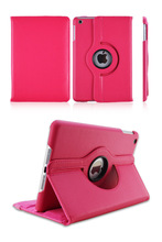 For Apple iPad mini 1/2 Retina Display Rotating Leather Stand Case Cover Wholesale MOQ:1000pcs Lowest Price