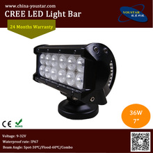 "7 inch double row spot, flood, combo beam 36w 7"" led driving light for 4x4 accessaries auto lighting system"