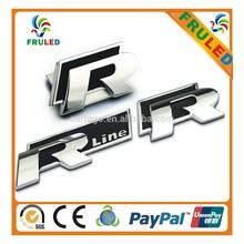 R line car emblem car badges auto emblem