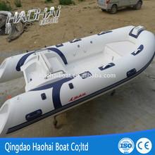 (12.8')3.9m rigid inflatable fiberglass sports pontoon boat with CE
