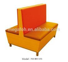 Fashion Orange Booth for Coffee Shop/Restaurant Furniture (FOH-XM33-474)