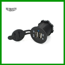Dual 2 Port USB Charger Socket &Plug Adapter For Car Auto GPS Marine Motorcycle