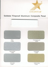 Color Card of Goldstar building decorative material