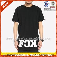 custom Hip Hop Clothing elongated t shirt for Men